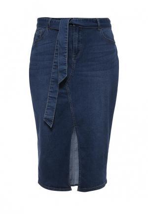 Юбка джинсовая LOST INK PLUS. Цвет: синий