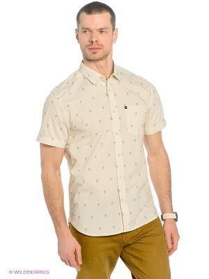 Рубашка  BEACONS Quiksilver. Цвет: молочный