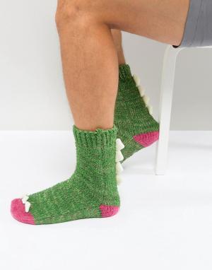 ASOS Слиперы-носки. Цвет: зеленый
