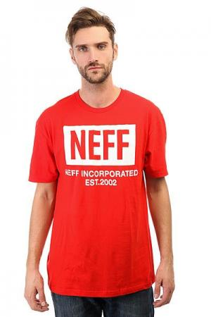 Футболка  New World Red Neff. Цвет: красный