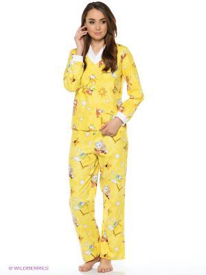 Пижама Мы команда. Цвет: желтый