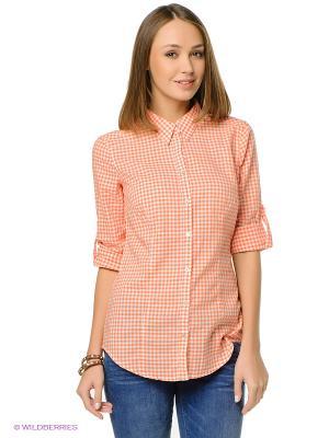 Рубашка ESPRIT. Цвет: коралловый, белый