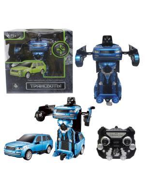 Робот на р/у 2,4GHz, трансформирующийся в джип, синий 1Toy. Цвет: серый