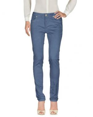 Повседневные брюки GLAM CRISTINAEFFE. Цвет: грифельно-синий