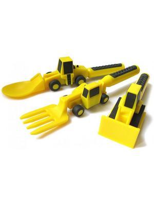 Столовые приборы Constructive Eating. Цвет: желтый