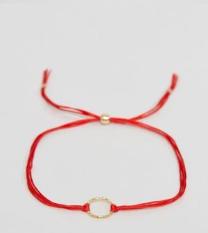 Dogeared Позолоченный браслет с цепочкой Karma. Цвет: золотой
