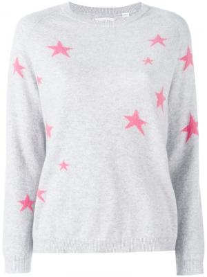 Кашемировый свитер со звездами Chinti & Parker. Цвет: серый