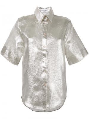 Рубашка с короткими рукавами Daizy Shely. Цвет: металлический