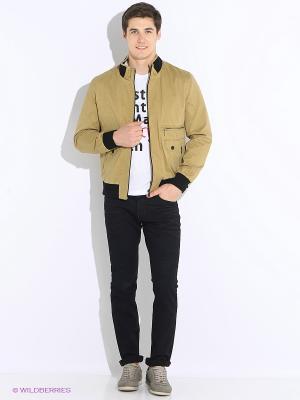Куртка Berloga. Цвет: темно-бежевый