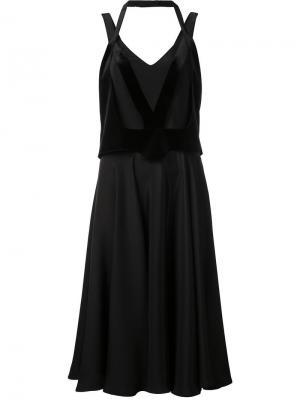 Платье с запахом Esteban Cortazar. Цвет: чёрный