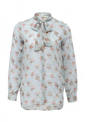 Блуза NewLily. Цвет: голубой
