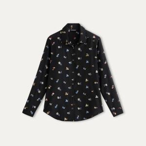 Рубашка с вышивкой THE KOOPLES. Цвет: черный