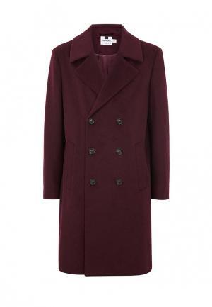 Пальто Topman. Цвет: бордовый