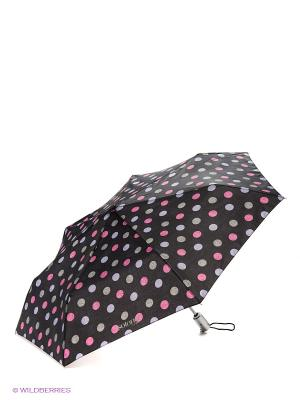Зонт Isotoner. Цвет: черный, розовый, серый, сиреневый