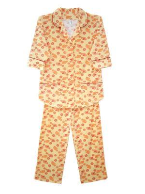 Пижама Тефия. Цвет: светло-желтый, красный