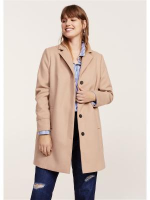Пальто - BASIC Violeta by Mango. Цвет: коричневый