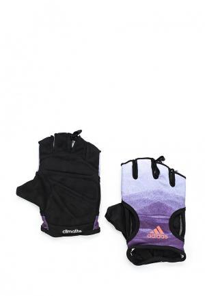 Перчатки для фитнеса adidas. Цвет: фиолетовый