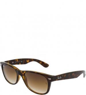Очки-вайфареры с градиентными линзами Ray Ban. Цвет: коричневый