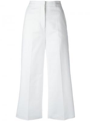 Укороченные брюки Rochas. Цвет: белый