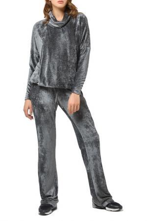 Расклешенные брюки на завязке Helmidge. Цвет: хаки