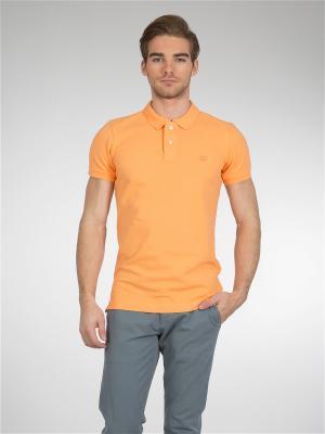 Футболка-поло Colin's. Цвет: оранжевый