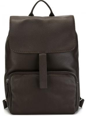 Рюкзак с откидным клапаном Zanellato. Цвет: коричневый