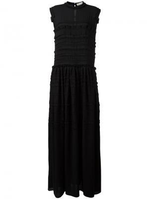 Платье с короткими рукавами Veronique Branquinho. Цвет: чёрный