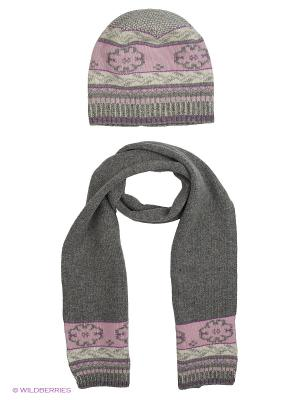 Шапка; шарф MARIELA. Цвет: серый