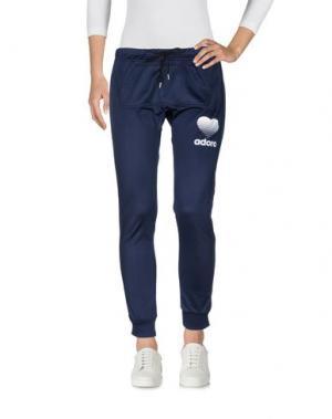 Повседневные брюки HAPPINESS. Цвет: темно-синий