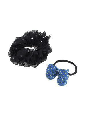 Комплект резинок для волос Gusachi. Цвет: черный, синий, желтый