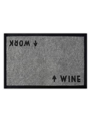 Коврик придверный Работа или вино MoiKovrik. Цвет: коричневый