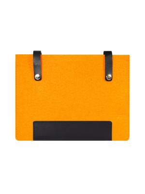 Чехол фетровый с кожаными вставками на кнопках IQ Format. Цвет: черный, оранжевый