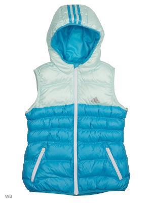 Жилет Adidas. Цвет: лазурный, голубой, синий