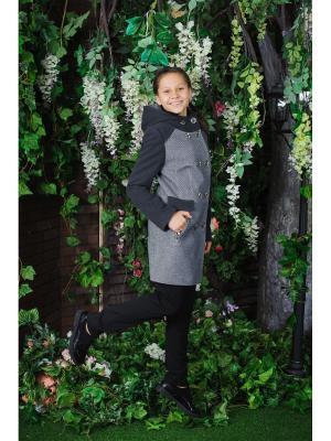 Пальто 315 (п) Стильные непоседы. Цвет: серый