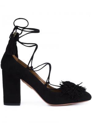 Туфли с кисточками 'Wild 85' Aquazzura. Цвет: чёрный