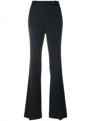 Расклешенные плиссированные брюки Alexander McQueen. Цвет: синий