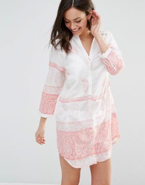 Pia Rossini Пляжное платье-рубашка Desota. Цвет: белый