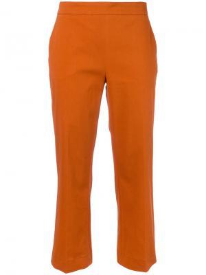 Укороченные брюки Odeeh. Цвет: жёлтый и оранжевый