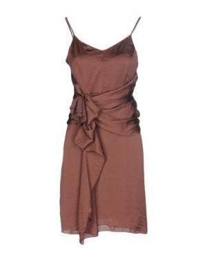 Короткое платье INTROPIA. Цвет: какао