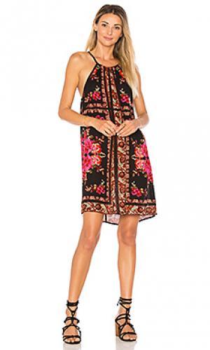 Платье на бретельках с принтом Band of Gypsies. Цвет: оранжевый