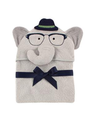 Полотенце с капюшоном Hudson Baby. Цвет: серый