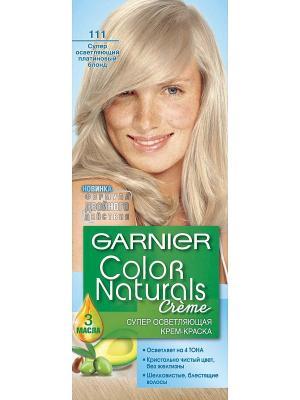 Стойкая питательная крем-краска для волос Color Naturals, оттенок 111, Платиновый блонд Garnier. Цвет: светло-бежевый, голубой