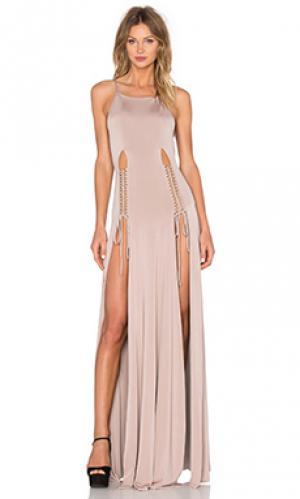 Платье qadriyya Gemeli Power. Цвет: серо-коричневый