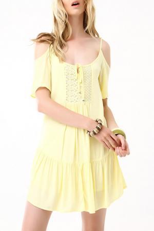 Платье Dilvin. Цвет: желтый