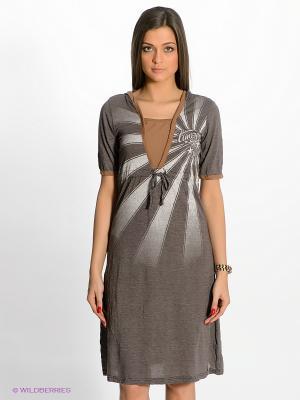 Платье Timezone. Цвет: коричневый
