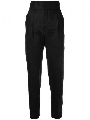Узкие брюки Bambah. Цвет: чёрный