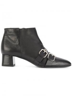 Ботинки с пряжками Fratelli Rossetti. Цвет: чёрный