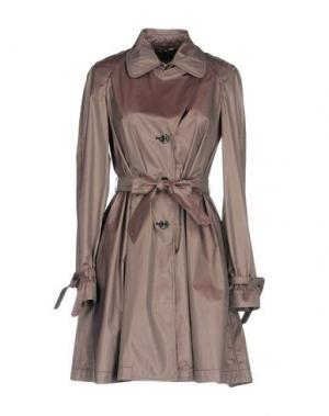 Легкое пальто GEOSPIRIT. Цвет: темно-коричневый