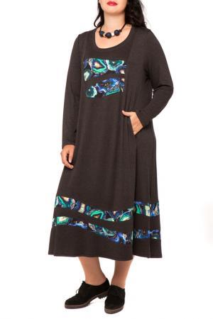 Платье Terra. Цвет: серый