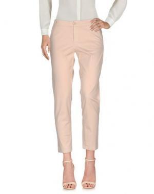 Повседневные брюки FAIRLY. Цвет: телесный